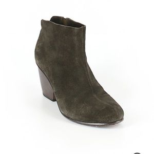 Coclico olive green dress booties